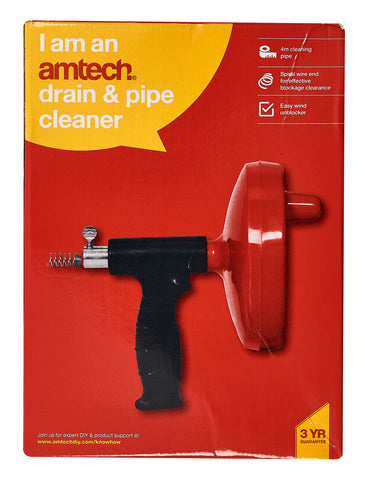 Drain And Pipe Cleaner Pipes Showers Sinks Small Medium Household Amtech S1504