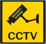 CCTV Warning Sticker 100mm x 100mm