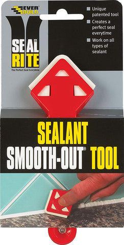 Everbuild SMOOTHOUT-EBD Seal Rite Sealant Smooth Out Tool, Red