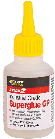 Everbuild Stick 2 Industrial Grade General Purpose Superglue, Clear, 20 grams