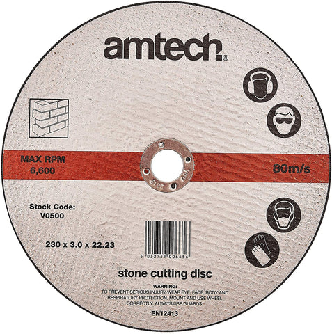Amtech V0500 Stone Cutting Disc, 230 mm