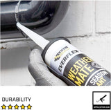 Everbuild Everflex Weather Mate - Gap Filler & Adhesive, Clear, 295 ml