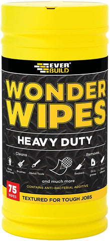 Everbuild Wonder Wipes Textured Heavy Duty Cleaning Wipes, 75 Wipes