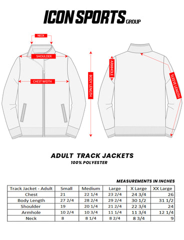 Adult Track Jacket Size Chart by Icon Sports