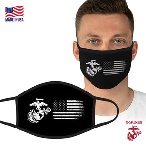 U.S. Marine Semper Fi Black-White Face Covering by Icon Sports