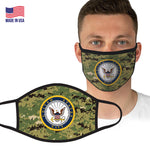 U.S. Navy Logo Camouflage Face Covering by Icon Sports