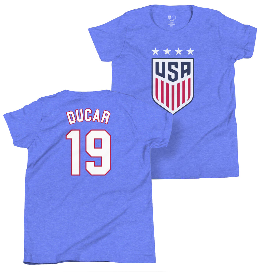 Tracy Ducar 1999 Youth USWNT 4 Star T-Shirt