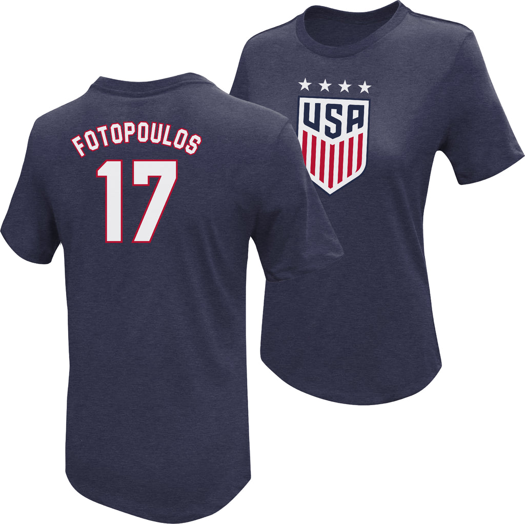 Danielle Fotopoulos 1999 USWNT 4 Star T-Shirt by Icon Sports