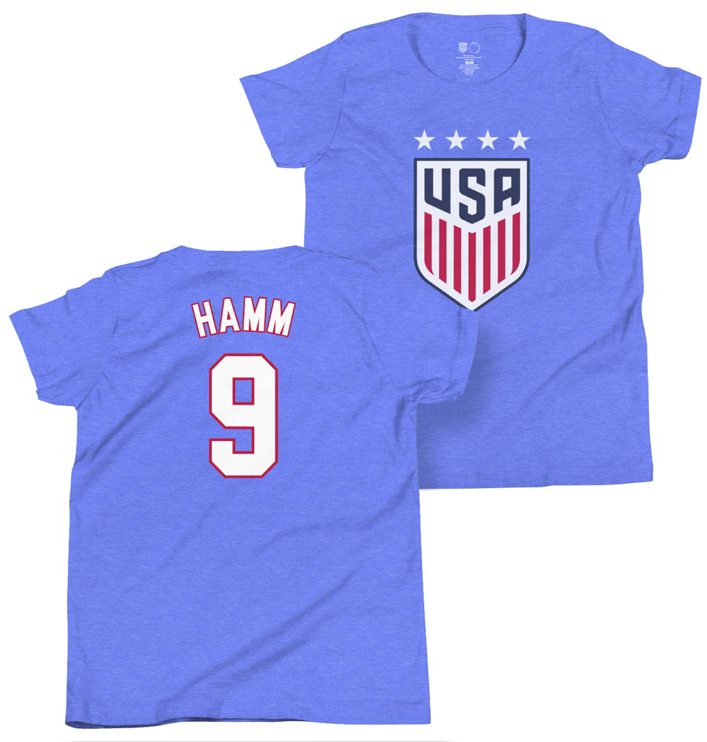Mia Hamm 1999 Youth USWNT 4 Star T-Shirt