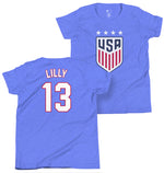 Kristine Lilly 1999 Youth USWNT 4 Star T-Shirt