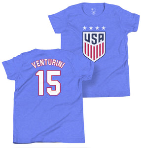 Tisha Venturini 1999 Youth USWNT 4 Star T-Shirt