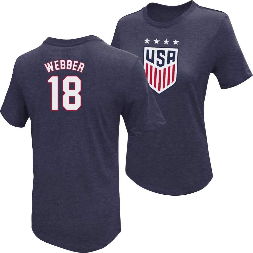 Saskia Webber 1999 USWNT 4 Star T-Shirt by Icon Sports
