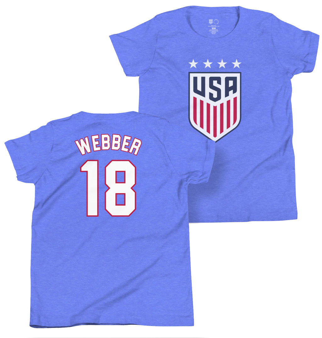 Saskia Webber 1999 Youth USWNT 4 Star T-Shirt