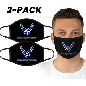 U.S. Air Force Gray Logo Face Covering by Icon Sports