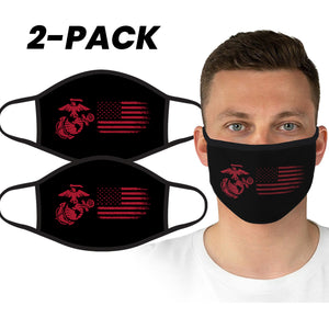U.S. Marine Semper Fi Black-Red Face Covering by Icon Sports