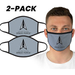 U.S. Space Force Grey Logo Face Covering by Icon Sports