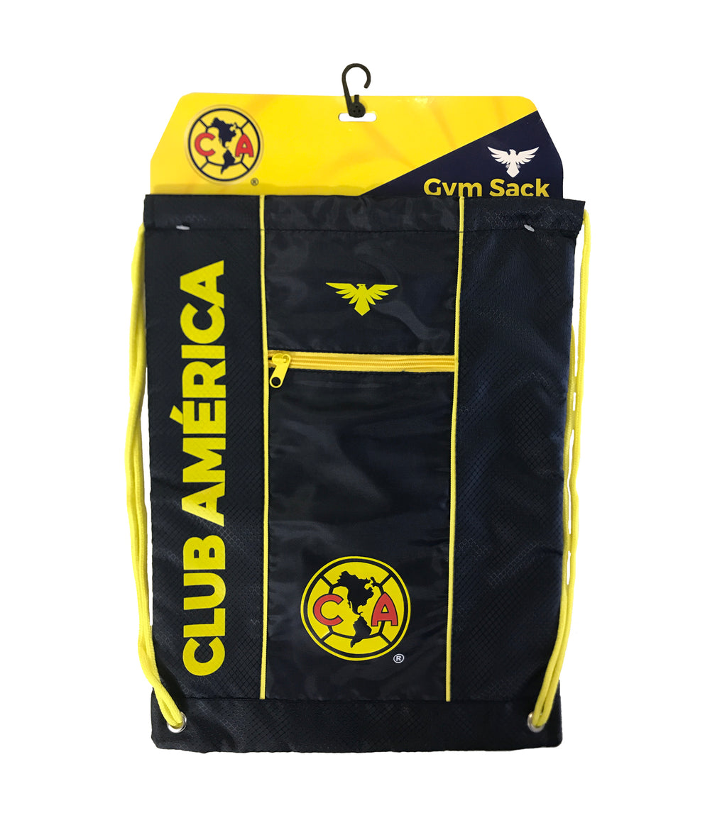 Club América Drawstring Cinch Bag - Navy