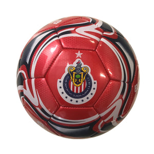 C.D. Guadalajara Crimson Flare Size 5 Soccer Ball by Icon Sports
