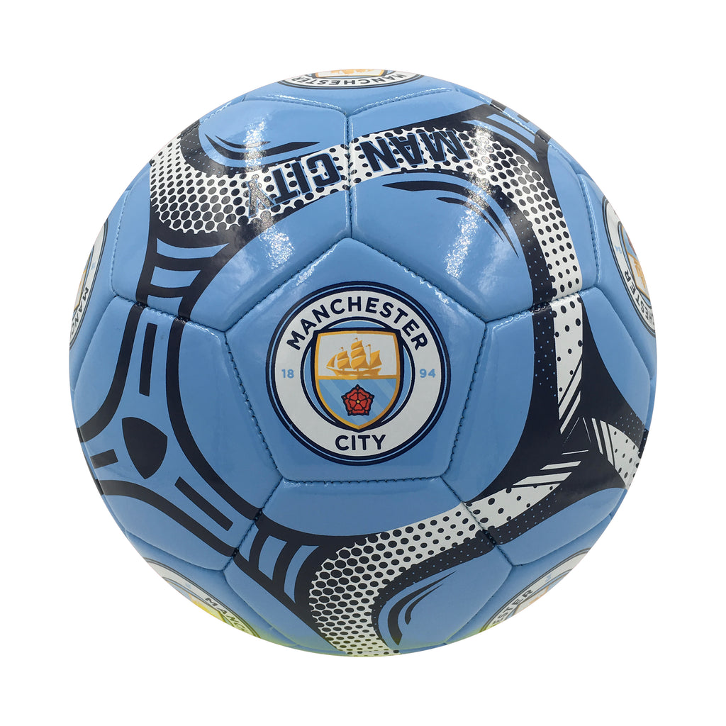 Manchester City Sky Comet Size 5 Soccer Ball