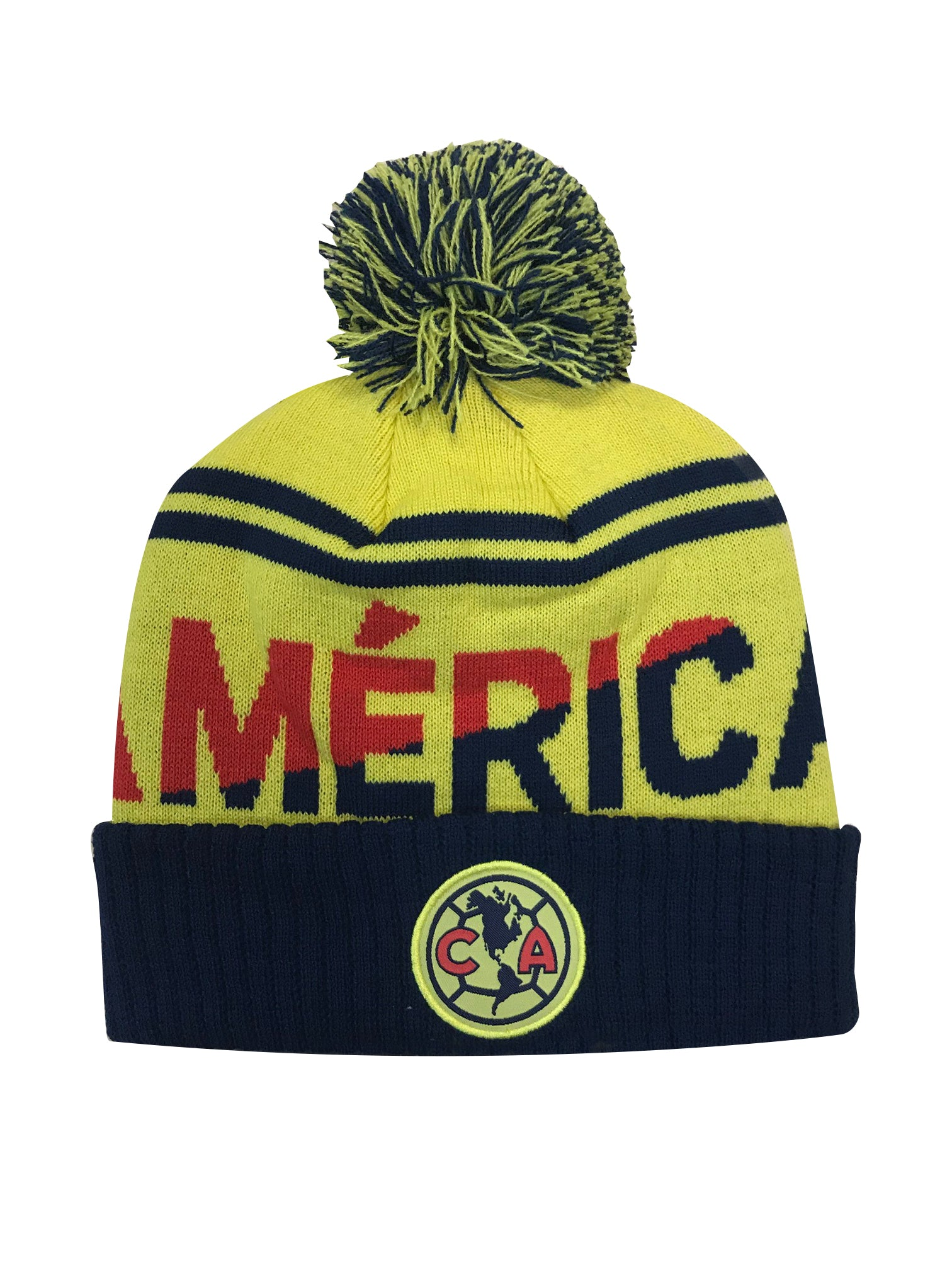 Club América Solid Cuff Pom Beanie by Icon Sports