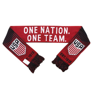 U.S. Soccer One Nation. One Team. Reversible Fan Scarf