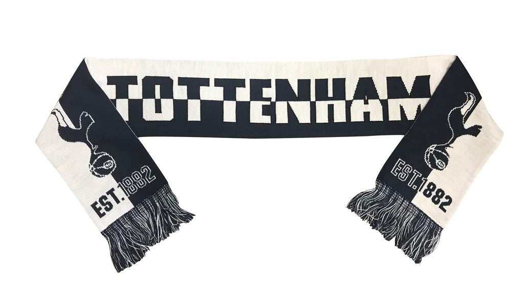 Tottenham Est. 1882 Reversible Fan Scarf by Icon Sports
