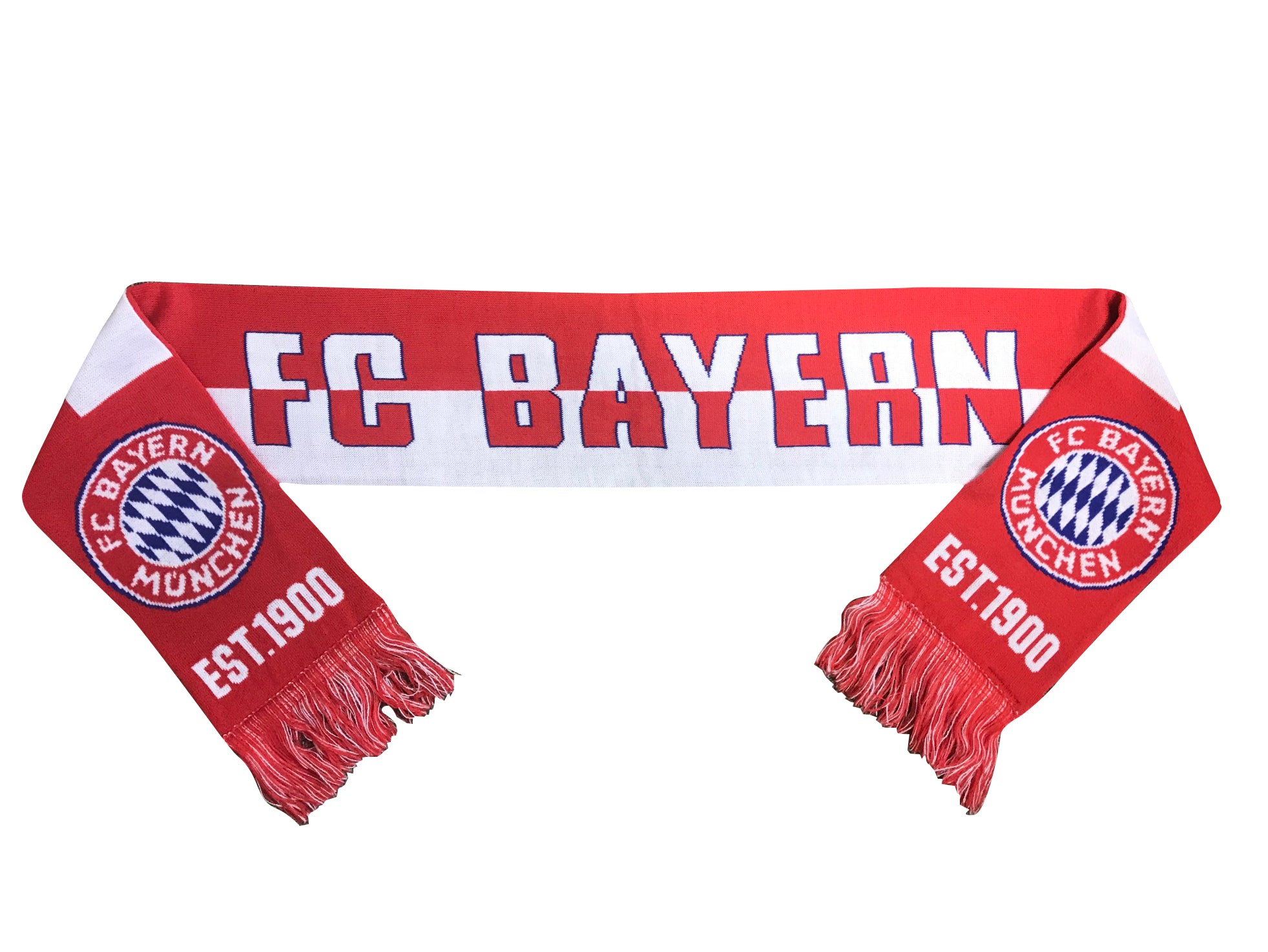 FC Bayern München Est. 1900 Reversible Fan Scarf by Icon Sports