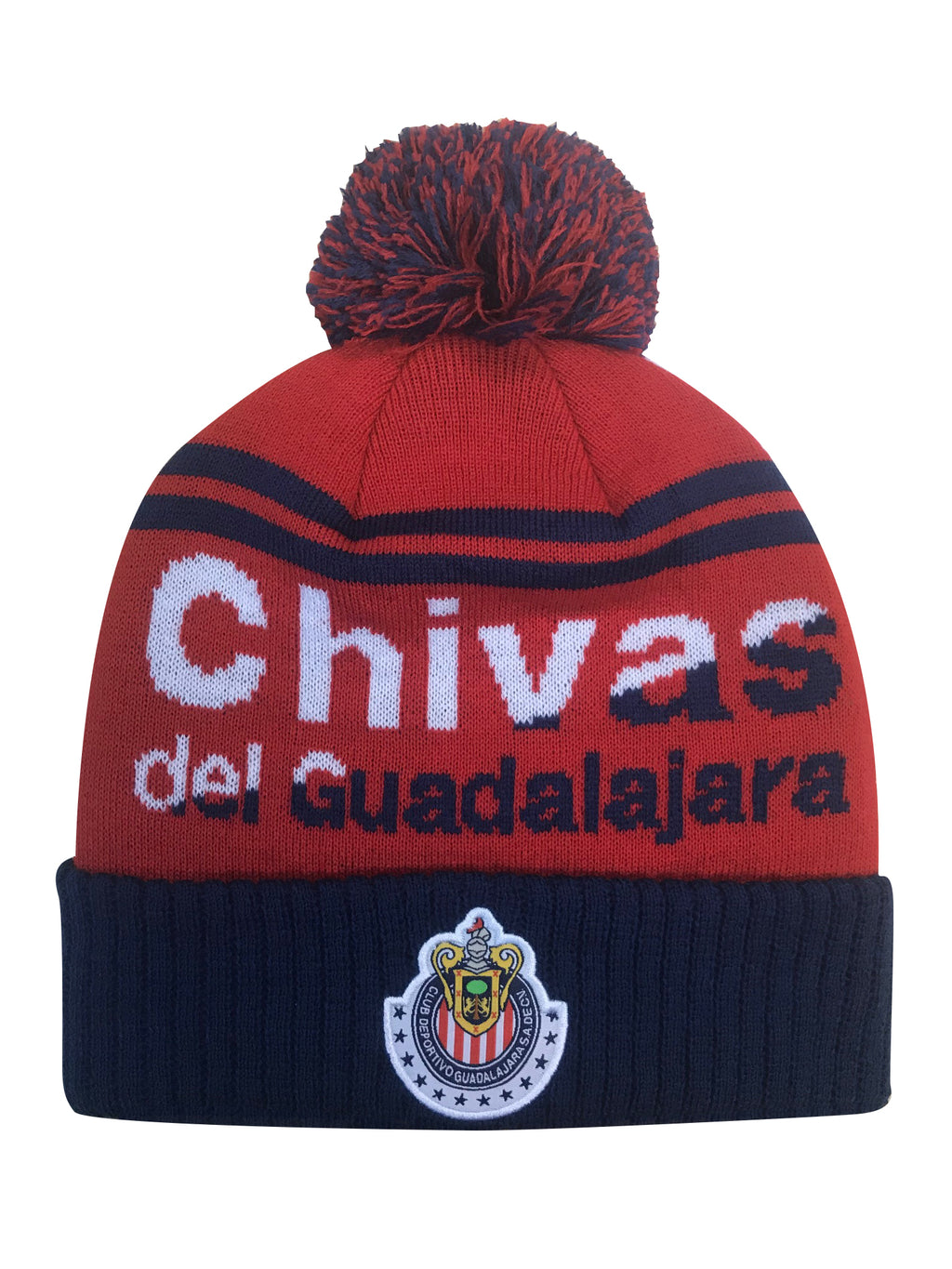 Chivas Solid Cuff Pom Beanie by Icon Sports