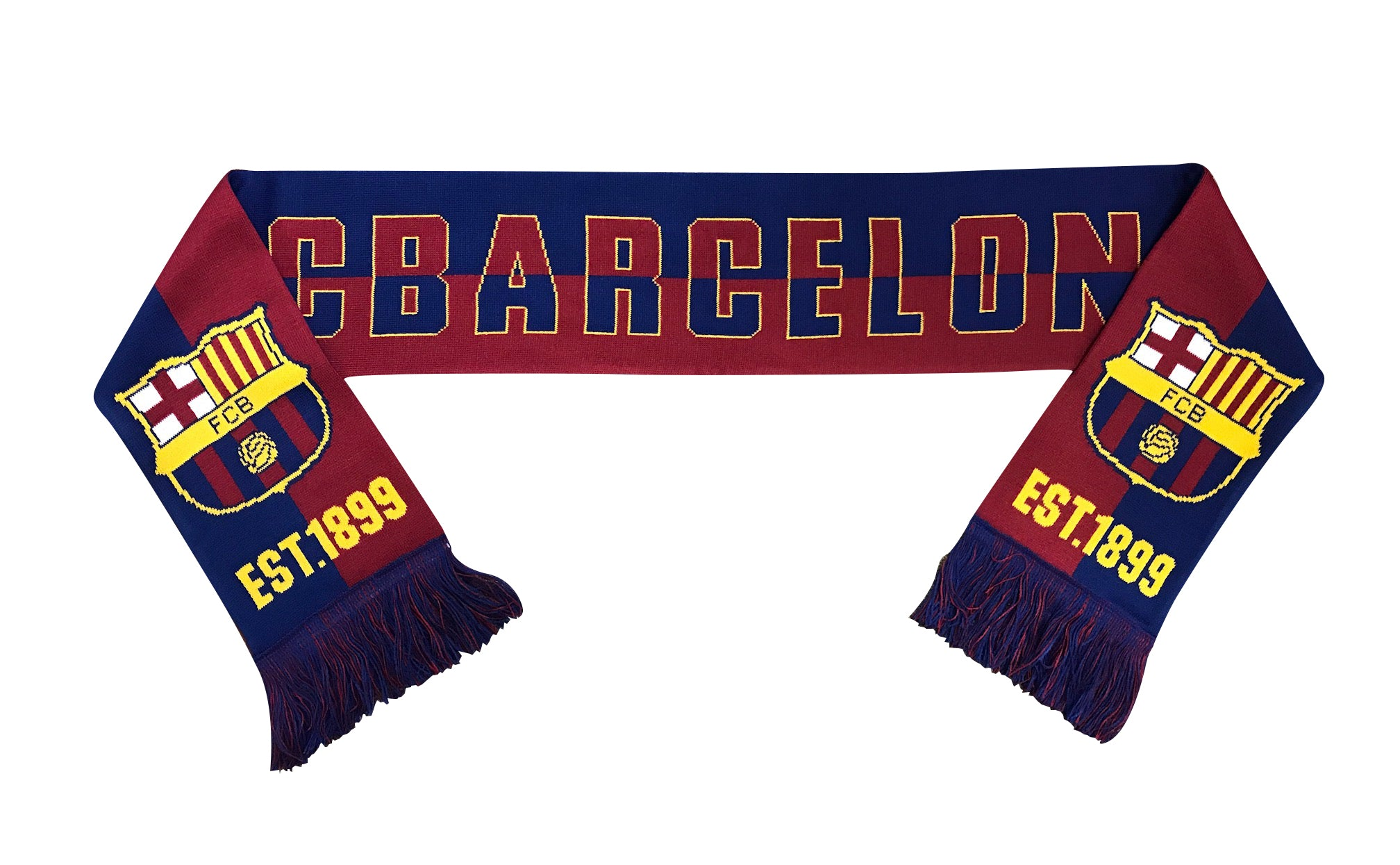 FC Barcelona Est. 1899 Reversible Fan Scarf by Icon Sports