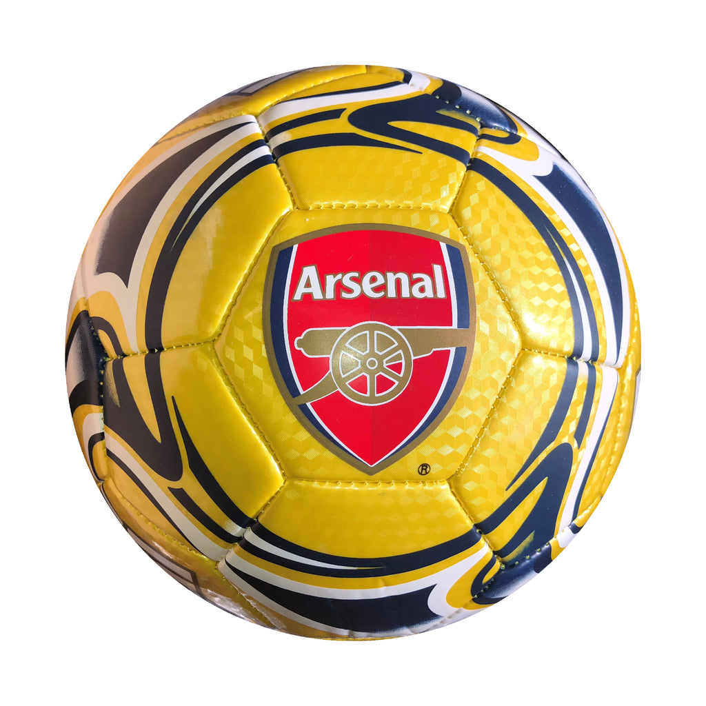 Arsenal Gold Flare Size 5 Soccer Ball by Icon Sports