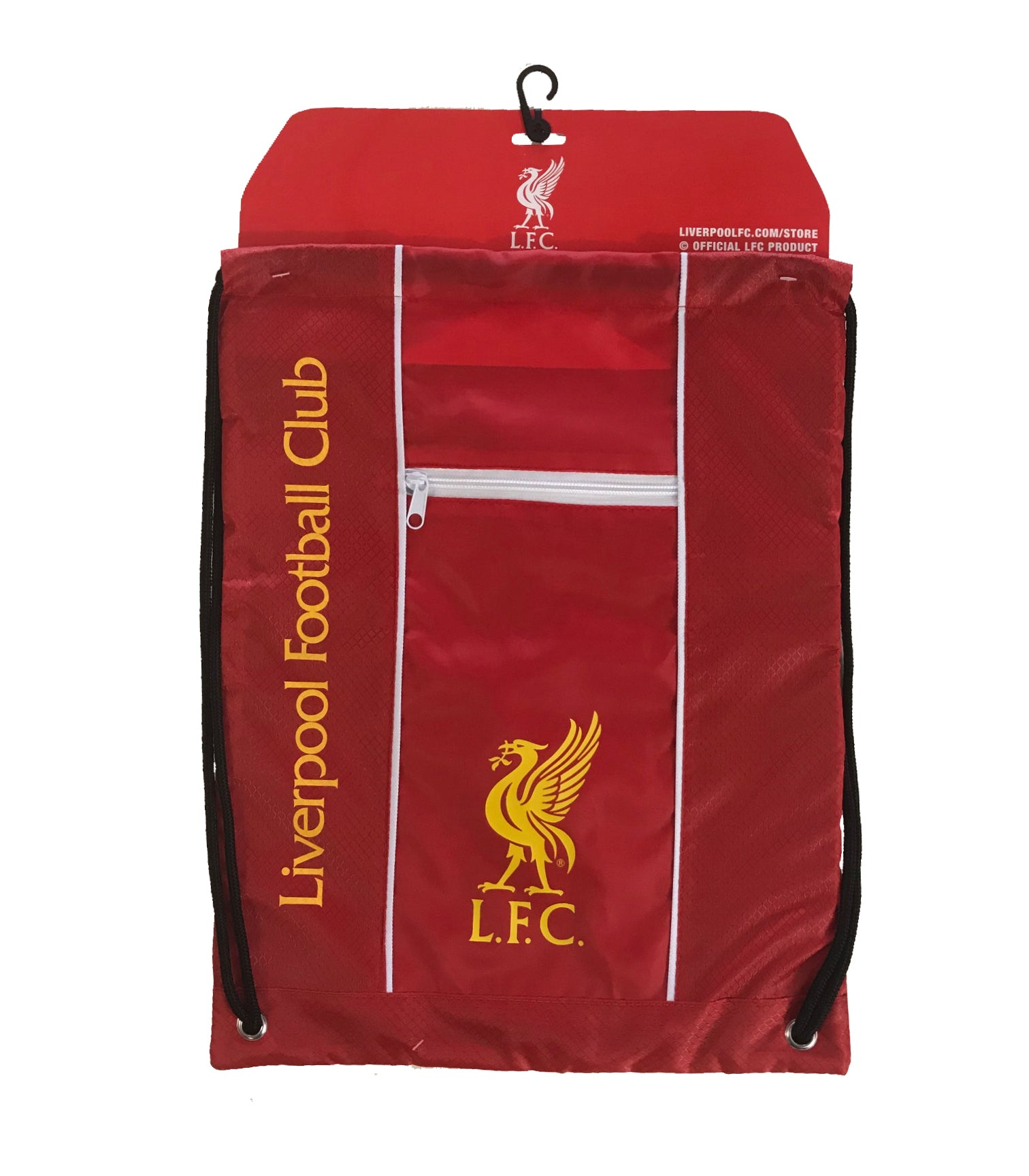 "Liverpool FC ""LFC"" Official Licensed Drawstring Cinch Bag"