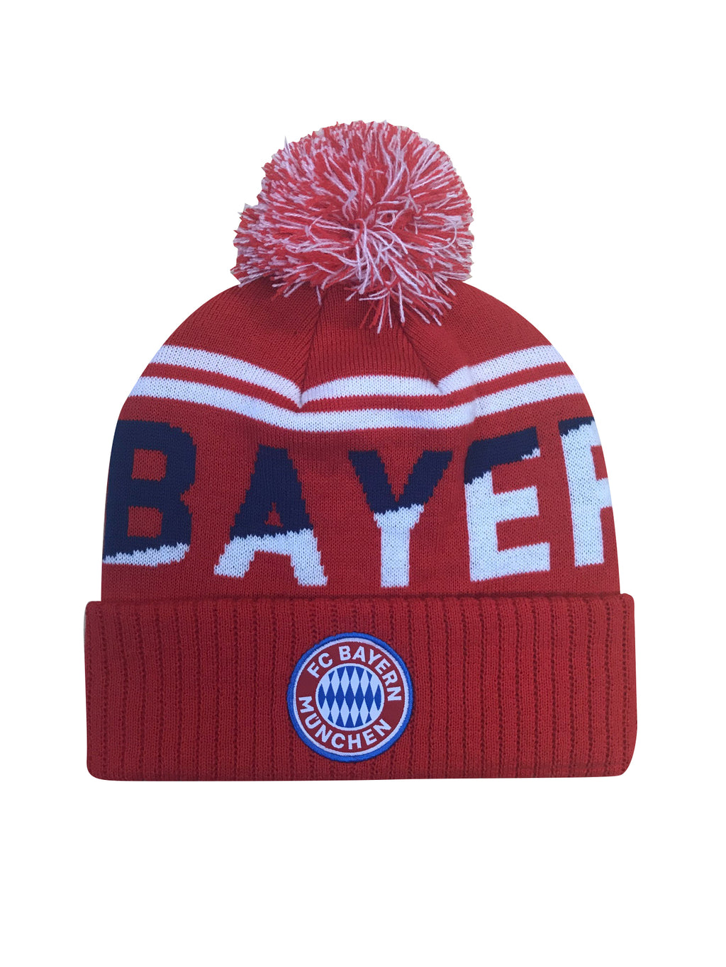 FC Bayern München Solid Cuff Pom Beanie by Icon Sports