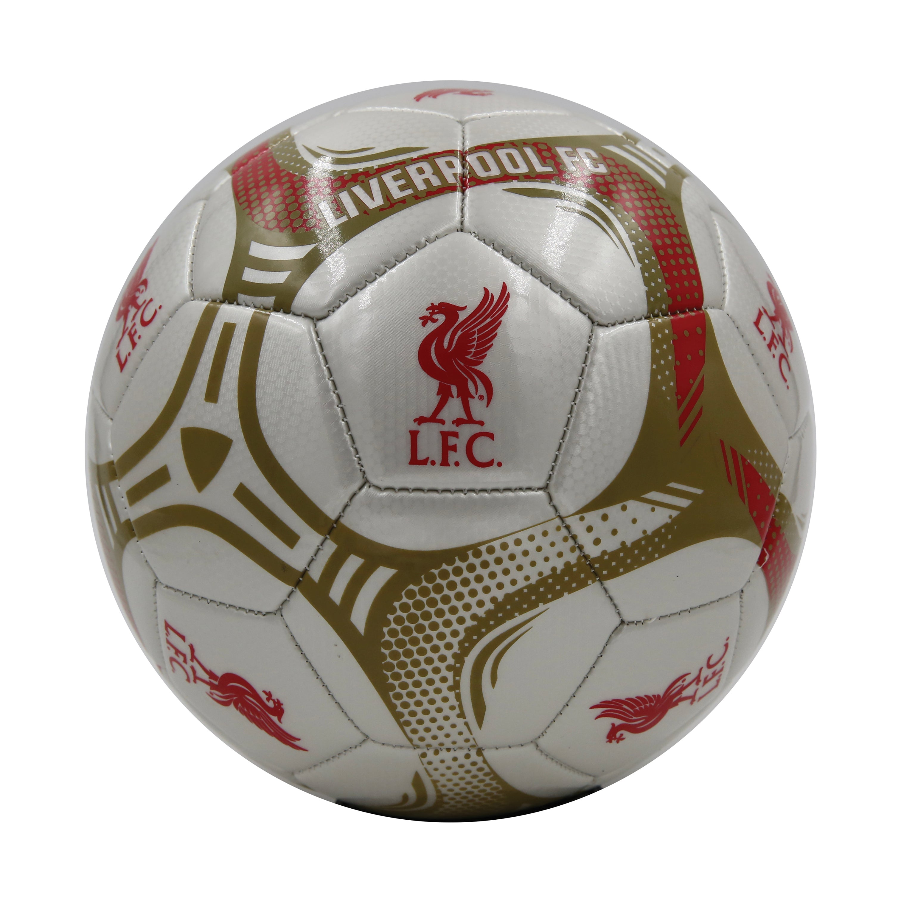 Liverpool FC White Comet Size 5 Soccer Ball by Icon Sports