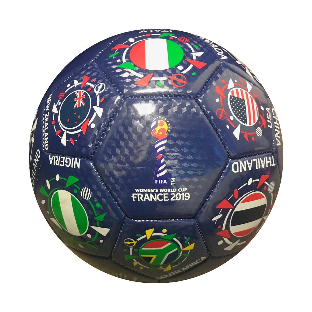 FIFA 2019 Women's World Cup France National Orbit Souvenir Size 5 Soccer by Icon Sports