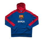 FC Barcelona Youth Side Step Full Color Logo Pullover Hoodie - Navy by Icon Sports