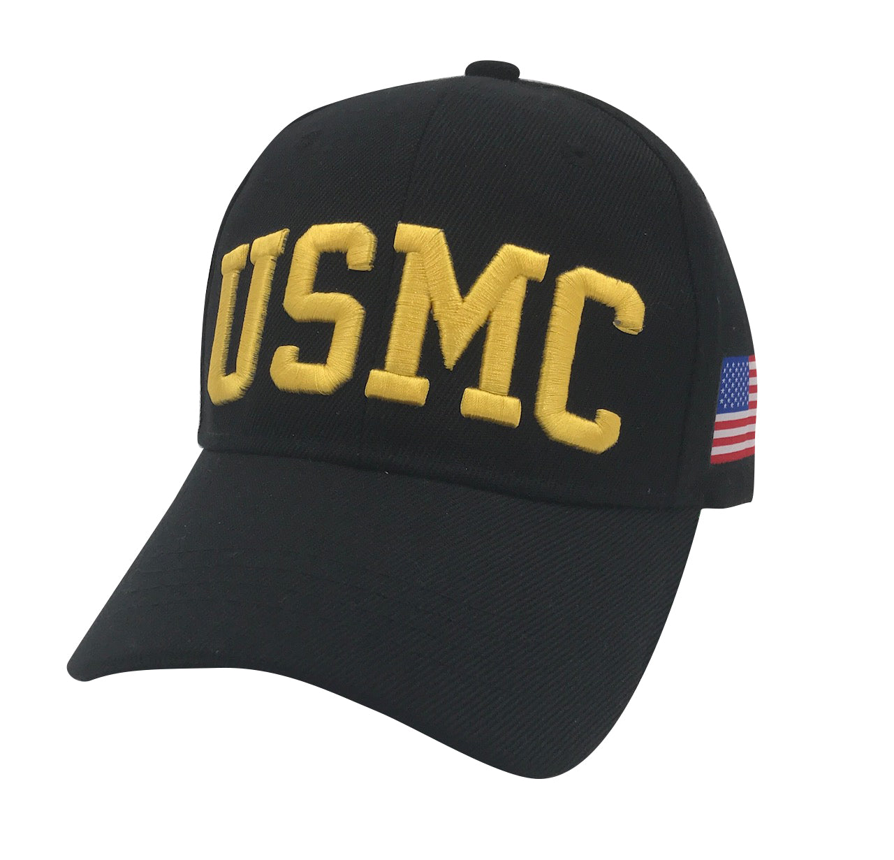USMC Acrylic Cap - Black by Icon Sports