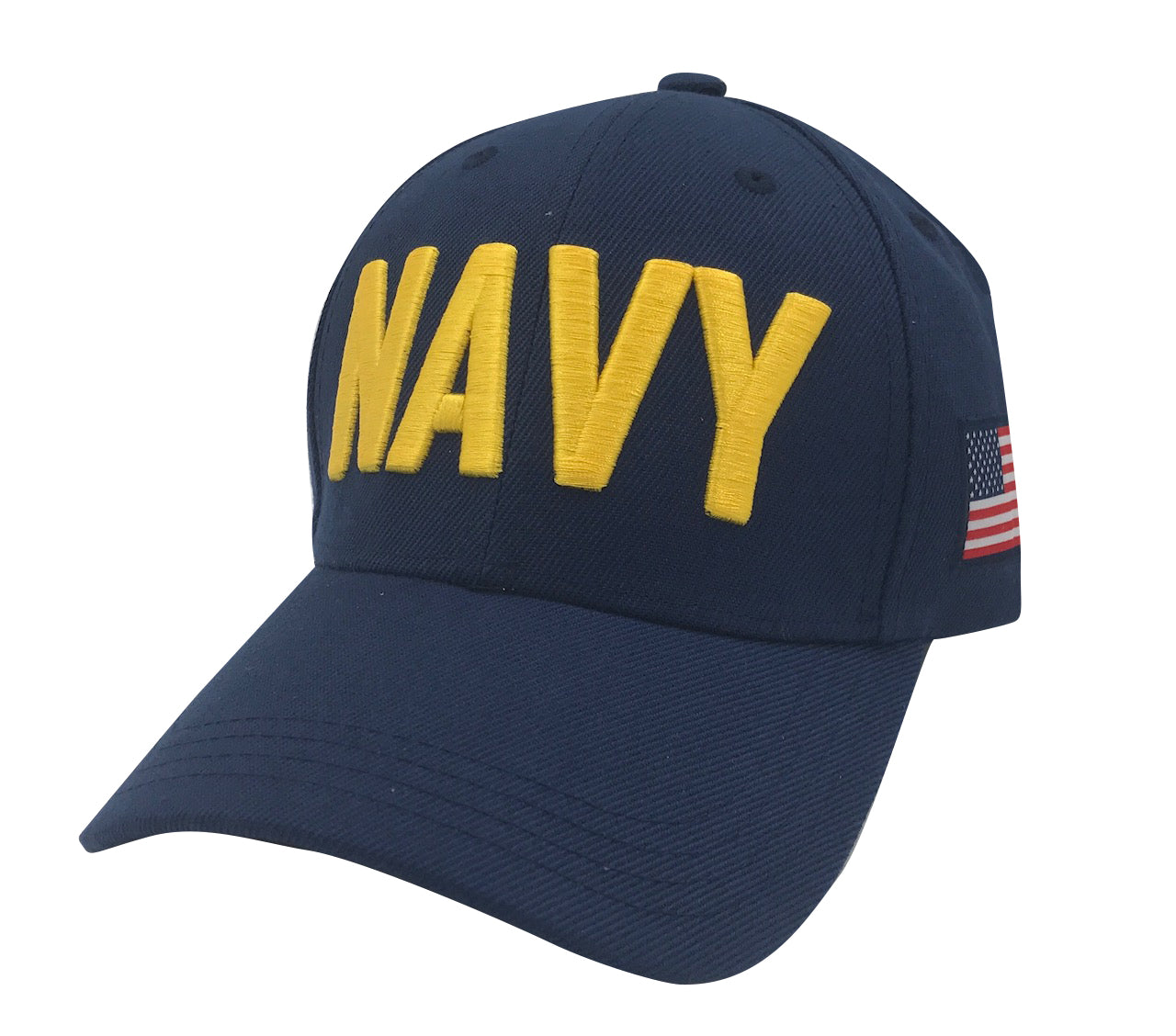NAVY 3D Embroidery Acrylic Cap - Navy by Icon Sports