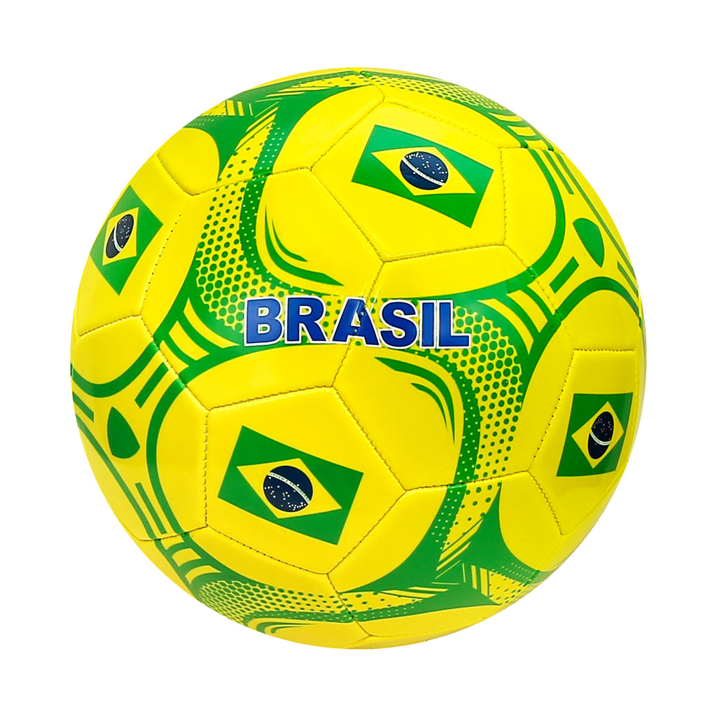 Brazil Country Size 5 Regulation Soccer Ball by Icon Sports