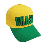 BRASIL 3D Embroidery 6 Panel Structured Cap by Icon Sports