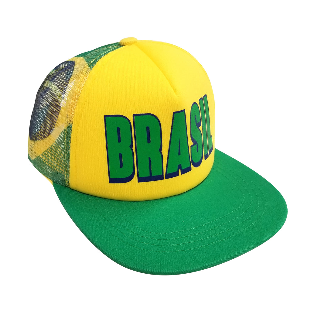BRASIL Printed 5-Panel Foam Front Trucker Cap by Icon Sports