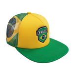 BRAZIL Logo 5-Panel Foam Front Trucker Cap by Icon Sports