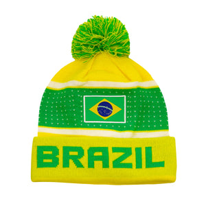 "Brazil ""Pegged"" Adult Unisex Beanie by Icon Sports"