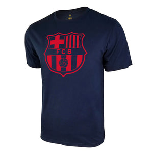 FC Barcelona Uni-Logo T-Shirt - Navy by Icon Sports