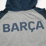 FC Barcelona Youth Lightweight Pullover Hoodie in Maroon by Icon Sports