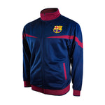 FC Barcelona Adult Full-Zip Barça Track Jacket - Blue by Icon Sports