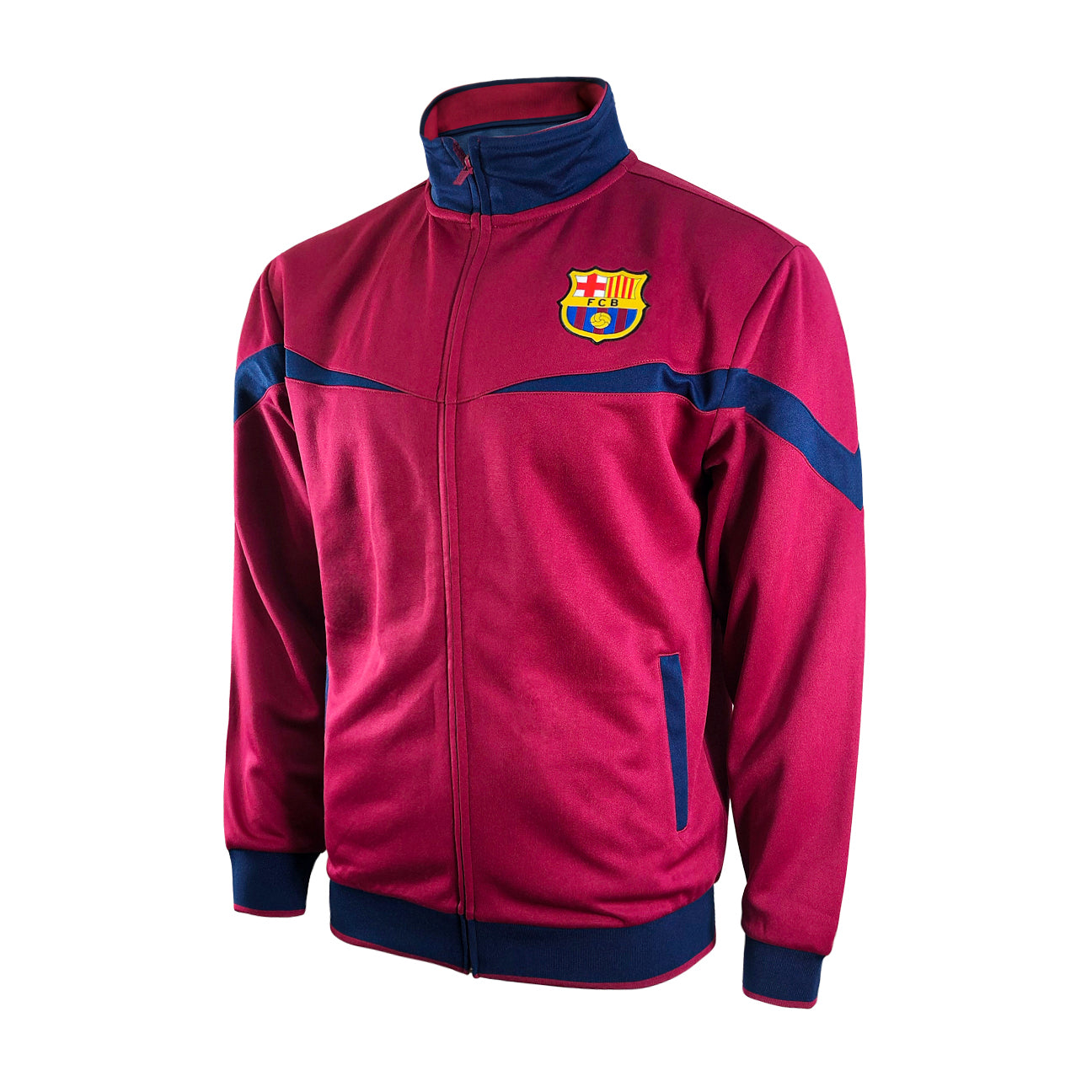 FC Barcelona Adult Full-Zip Barça Track Jacket - Red by Icon Sports