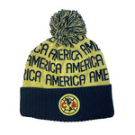 Club América Youth Solid Cuff Pom Beanie