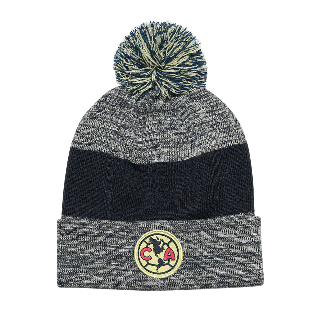 Club América Heathered Cuff Pom Beanie
