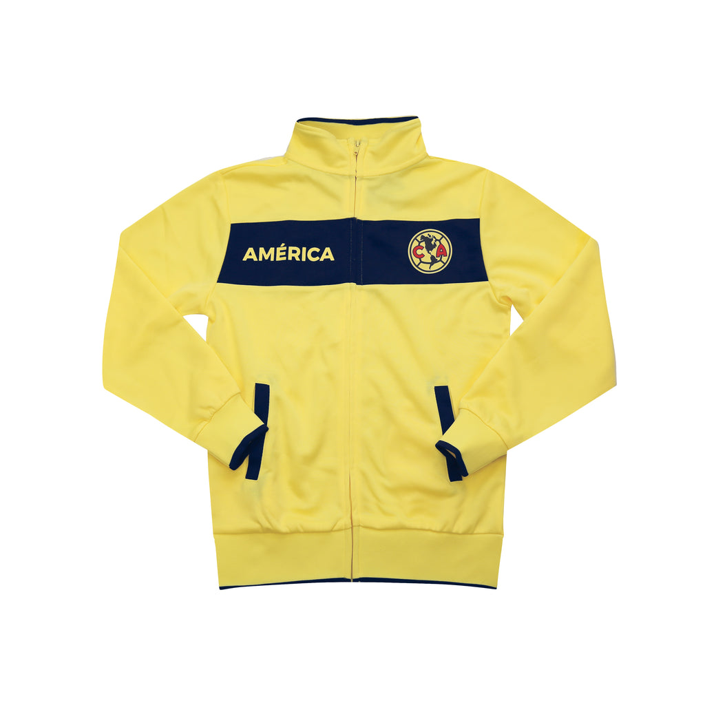 "Club América ""Centering"" Youth Full-Zip Track Jacket - Yellow by Icon Sports"