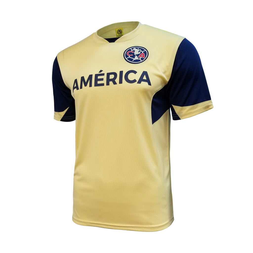 Club América Game Class Striker Shirt - Yellow by Icon Sports